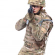 Modern soldier with rifle — Stock Photo #6888421