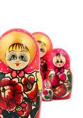 Rosyjskich Matrioszkach — Zdjęcie stockowe