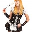 Beautiful caucasian woman dressed in a French Maid costume — Stock Photo #6905463
