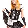Beautiful caucasian woman dressed in a French Maid costume — Stock Photo #6905466