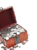 Treasure Chest. Isolated on a white background — Stock Photo