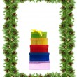 Christmas framework with gifts - Foto de Stock