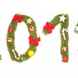 2012 number written by christmas tree branches — Stock Photo #7646587