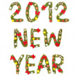 New Year's Eve greeting. 2012 — Stock Photo