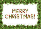 Christmas card with a christmas ornamen — Stock Photo