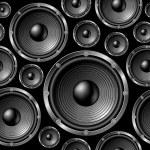 Speakers seamless background. — Stock Vector