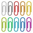Paper clips. — Stock Vector #6939325