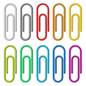 Paper clips. — Stock Vector