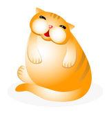 Grappig kat. — Stockvector