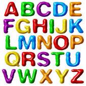 Plasticine alphabet. — Stock Photo