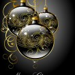 Merry Christmas greeting card. — Vettoriale Stock #7487566
