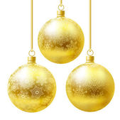 Golden balls set. — Stock Vector
