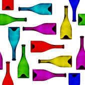 Seamlessly varicolored bottles. — Stock Photo