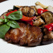 Steak with grilled vegatables — Photo