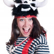 Girl in a pirate costume — Stock Photo