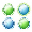 Set of vector globes - Stock Vector