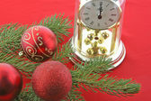 Christmas tree watch — Stock Photo