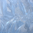 Hoarfrost textured background — Stock Photo