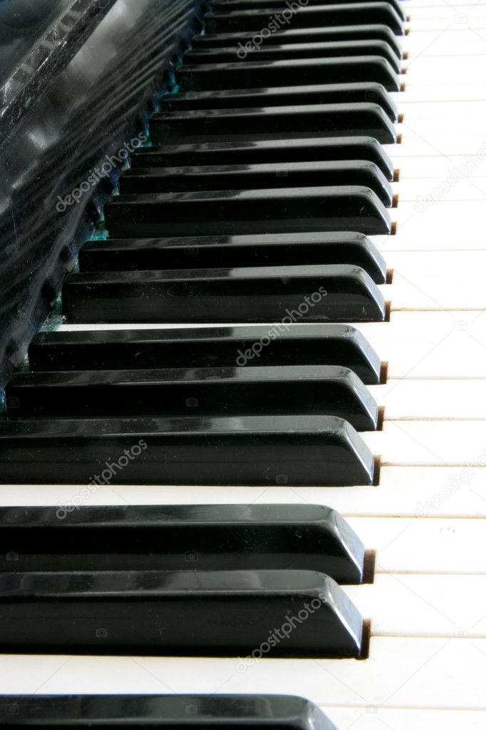 Piano key close up — Stock Photo #7626128