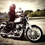 Biker girl — Stock Photo #7019135