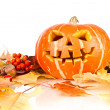 Halloween, old jack-o-lantern on white — Stock Photo #7019167
