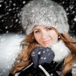 Portrait of the girl in the winter — Stock Photo