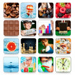 Collection of icons for programs and games — Stock Photo