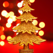 gold christmas tree — Stock Photo #7312075