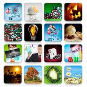 Sammlung von icons für programme und spiele — Stockfoto