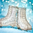 Christmas skates — Stock Photo