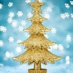 黄金圣诞树 — 图库照片