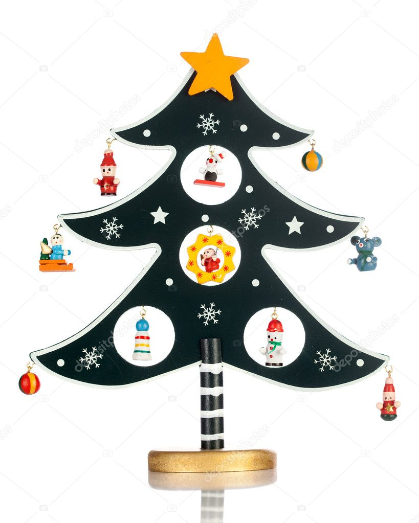 Christmas tree on the white background — Stock Photo #7392088