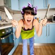 Crazy housewife — Stock Photo #7501149