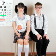 Two person wearing spectacles in office at doctor — 图库照片 #7719088