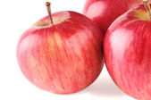 Three ripe red apple — Stock Photo