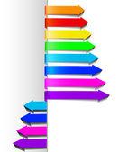 Set multicolored arrows — Stock Vector