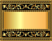 Background with gold vegetable pattern — Stock Vector