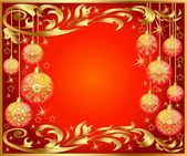 Background with festive ball with pattern — Stock Vector
