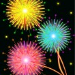 Bright salute firework — Stock Vector