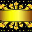 Background with gold star and label - Stock Vector