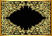 Frame with gold pattern — Stock Vector
