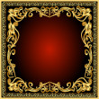 Frame background with gold(en) old pattern — Stock Vector #7321268