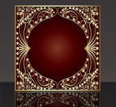 Frame with pattern from gold(en) wire with pearl — Vector de stock