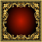Frame background with gold(en) old pattern — Stock Vector