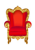 Old chair red with gold — Stock Vector