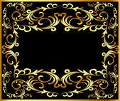 Background frame with vegetable gold(en) — Vector de stock
