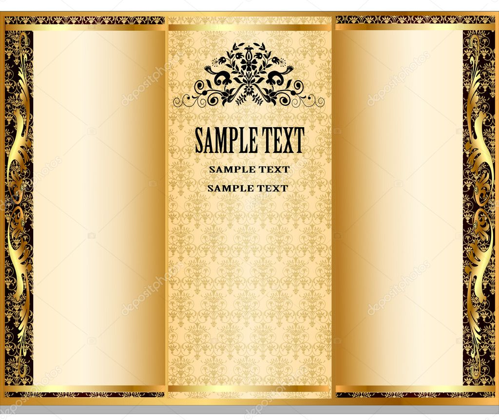 Internal registration booklet design in royal stiletto — Stock Vector #7374575