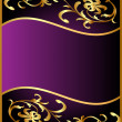 Background with flower pattern from gild - Vettoriali Stock