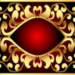 Background with frame and royal gold(en) pattern - Imagen vectorial