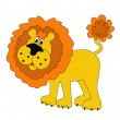 Royalty-Free Stock Vector Image: Funny lion insulated
